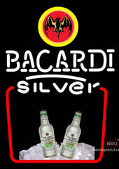 BACARDI Silver Neon Rum Sign