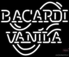 Bacardi Vanilla Real Neon Glass Tube Neon Sign x