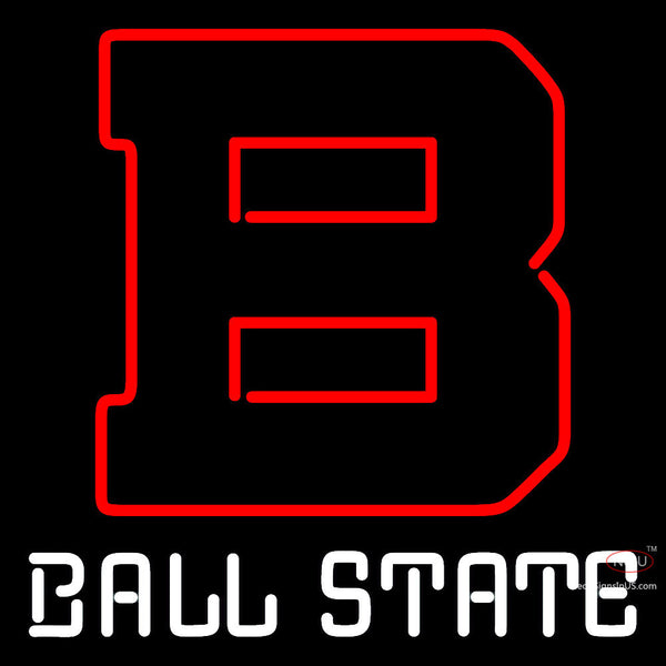 Ball State Cardinals Alternate   Logo NCAA Neon Sign