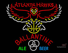 Ballantine Atlanta Hawks NBA Neon Beer Sign