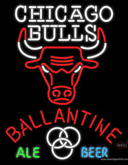 Ballantine Chicago Bulls NBA Neon Beer Sign