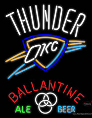 Ballantine Oklahoma City Thunder Neon Beer Sign