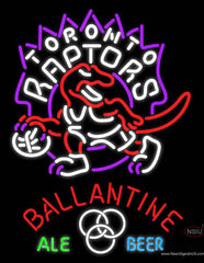 Ballantine Toronto Raptors NBA Neon Beer Sign