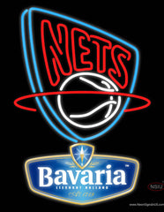 Bavarian New Jersey Nets NBA Neon Beer Sign