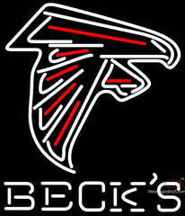 Becks Atlanta Falcons NFL Neon Sign