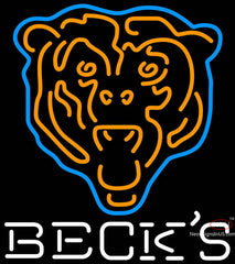 Becks Chicago Bears NFL Neon Sign