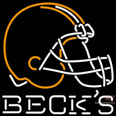 Becks Cleveland Browns NFL Neon Sign