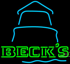 Becks Day Light House Neon Beer Sign