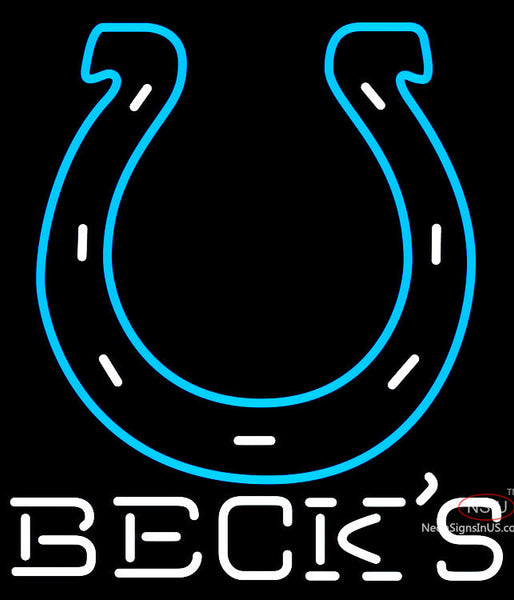 Becks Indianapolis Colts NFL Neon Sign