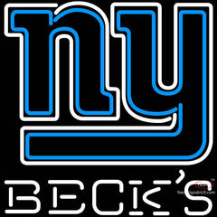 Becks New York Giants NFL Neon Sign