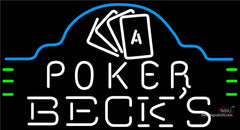 Becks Poker Ace Cards Neon Sign