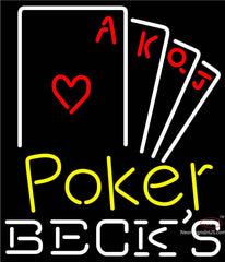 Becks Poker Ace Series Neon Sign