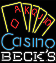 Becks Poker Casino Ace Series Real Neon Glass Tube Neon Sign