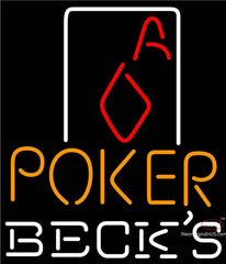 Becks Poker Squver Ace Neon Sign