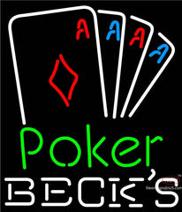 Becks Poker Tournament Neon Sign