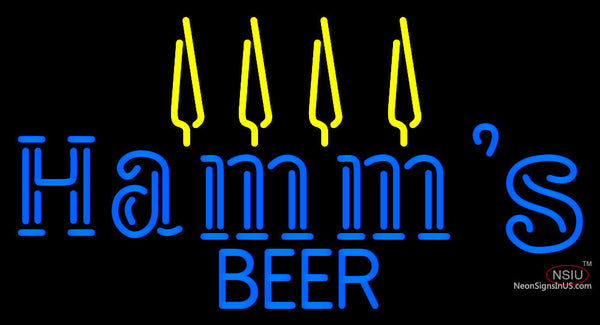 Blue Hamms Beer Neon Sign