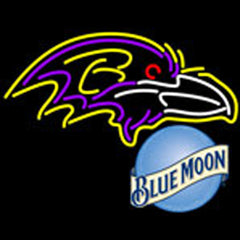 blue moon baltimore ravens nfl neon sign