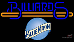 Blue Moon Billiards Text With Stick Pool Neon Beer Sign Giant