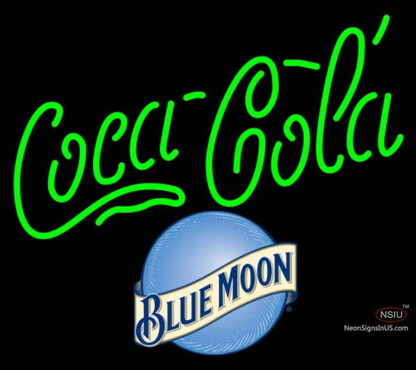 Blue Moon Coca Cola Neon Sign