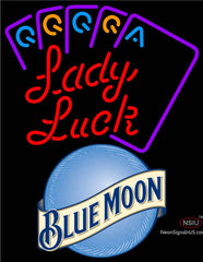 Blue Moon Lady Luck Series Neon Sign