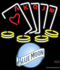 Blue Moon Poker Ace Series Real Neon Glass Tube Neon Sign 7