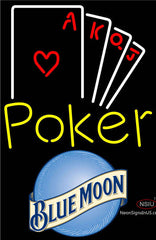Blue Moon Poker Ace Series Neon Sign