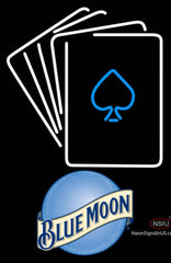 Blue Moon Poker Cards Neon Sign 7