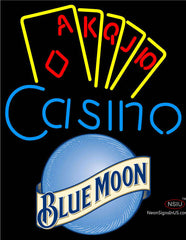 Blue Moon Poker Casino Ace Series Neon Sign