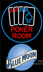 Blue Moon Poker Room Neon Sign