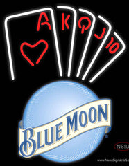 Blue Moon Poker Series Real Neon Glass Tube Neon Sign