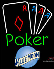 Blue Moon Poker Tournament Neon Sign