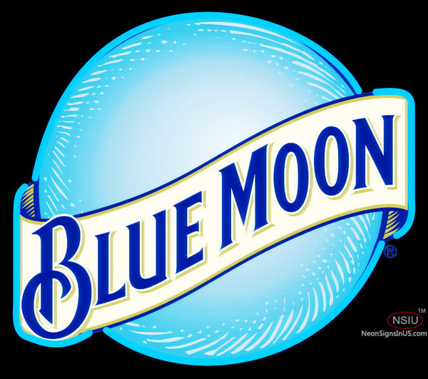 Blue Moon Round Sign