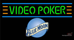 Blue Moon Video Poker Neon Sign 7