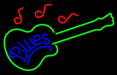 Blues Guitar Handmade Art Neon Sign