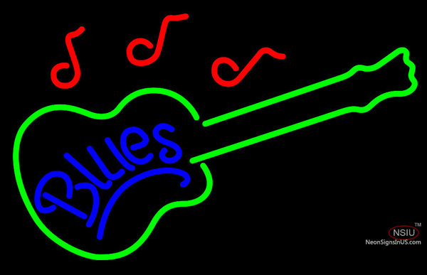 Blues Guitar Neon Sign