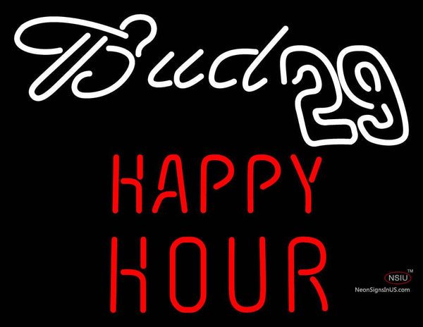 Bud  Happy Hour Neon Sign