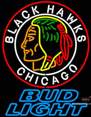 Bud Light Commemorative  Chicago Blackhawks Neon Sign