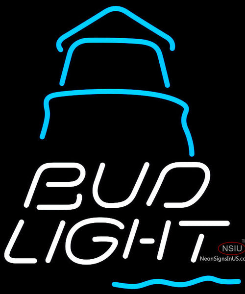 Bud Light Day Lighthouse Neon Sign