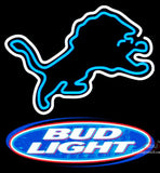 Bud Light Detroit Lions NFL Neon Sign