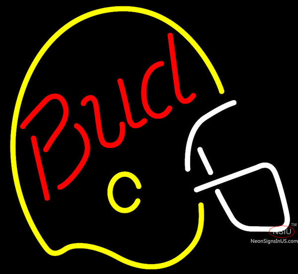 Bud Light Helmet Neon Beer Sign x