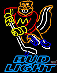 Bud Light Minnesota Golden Gophers Hockey Neon Sign