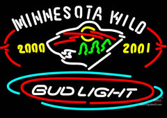 Bud Light Minnesota Wild Neon Sign