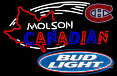Bud Light Molson Montreal Canadians Hockey Neon Sign