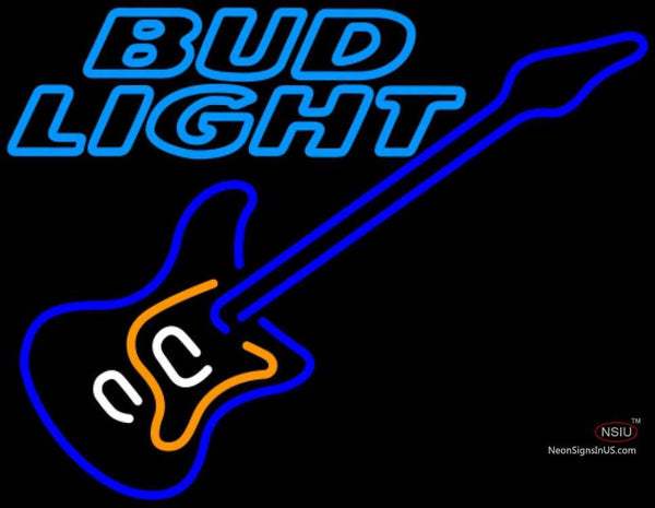 Bud Light Neon Blue Electric GUITAR Neon Sign