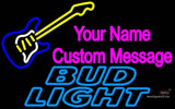 Bud Light Neon GUITAR Logo Neon Sign