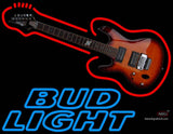 Bud Light Neon Guitar Neon Sign