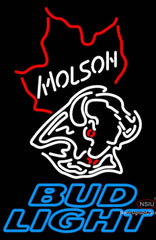 Bud Light Neon Molson Buffalo Sabres NHL Hockey Neon Sign
