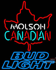Bud Light Neon Molson Leaf Hockey Neon Sign  7