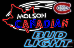 Bud Light Neon Molson Montreal Canadians Hockey Real Neon Glass Tube Neon Sign
