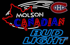 Bud Light Neon Molson Montreal Canadians Hockey Neon Sign